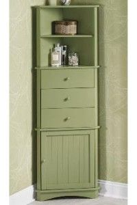 Corner Cabinet - although I don't like the paint