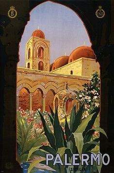 PALERMO ITALY vintage travel poster for ENIT 1920 24X36 great home decor Brand New. 24x36 inches. Will ship in a tube. - Multiple item purchases are combined the next day and get a discount for domest #italytravel #Vintagetravelposters