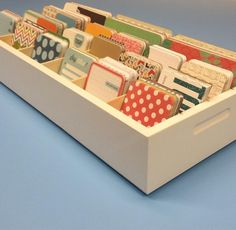Journaling Card organizer from OrganizeMore. Holds 3780 cards!