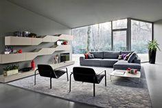 salon de design moderne DIAGONA G123 par Novamobili