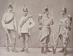 Austrian infantry, 1866