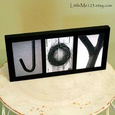 JOY Original LOVE Letters alphabet photography 4 x 6 photos on wood sign, gift