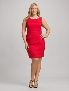 Plus Size Tiered Embellished Dress Dress Barn