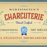 Charcuterie - Hand Drawn Vintage Font Collection by Laura Worthington