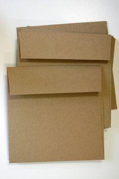 Brown Bag Kraft Envelopes Pack of 25 - 6 x 6 - Invitations and Cards - Square Envelopes. $9.75, via Etsy.