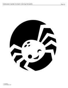 Pumpkin Carving Template: Super Cute Spider