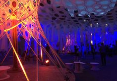 MoMA PS1 Lumen installation by Jenny Sabin Studio