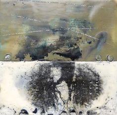 """encaustic """"Breath series"""" 8 x 8 panel by Susan Ukkola"""