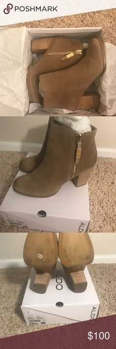Aldo Women's Mathia Suede Boot size 10 Aldo Women's Mathia suede boot size 10. Gently used . I Love them but I live in Miami an can't wear them. Aldo Shoes Ankle Boots & Booties