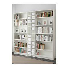 "BILLY / GNEDBY Bookcase - white, 78 3/4x79 1/2x11 "" - IKEA"