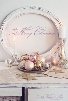 Vintage Pink and White Christmas