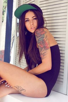beautiful tattoos...and im pretty sure i have a girl crush on this chic!