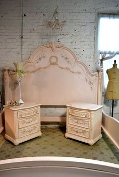 Painted Cottage Shabby Pink King Romance Bed by paintedcottages
