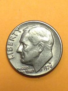 1974 D Uncentered Strike Observe Dime Error
