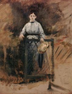Eva Gonzalès met Édouard Manet in 1869 and was to become his student, colleague and model. Manet is said to have begun a portrait of her at once which was completed on 12 March 1870 and exhibited at Salon in that year. Julie Manet, Maurice Utrillo, French Impressionist Painters, Berthe Morisot, Edouard Manet, Camille Pissarro, Edgar Degas, Paul Cezanne, Impressionism Art