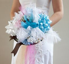 It has long been a wedding tradition to create a 'rehearsal bouquet' for the bride, at her bridal shower – out of all the ribbons and bows from her gifts. When rehearsing for your...