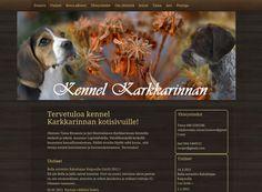 Kennel Karkkarinnan kotisivuilta löytää sekä tietoa että kuvia kennelin koirista, joiden kanssa harrastetaan muun muassa metsästystä ja näyttelyitä.