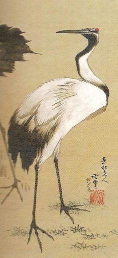 Hokusai (Japanese)  Love anything with Tsuru on it. These are the most beautiful birds.