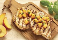 grilled pork chops with peach basil chutney more grilled pork chops ...