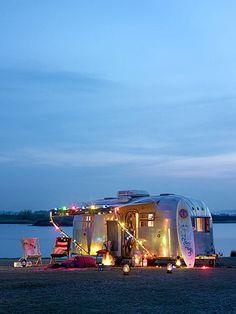 trailer at the beach