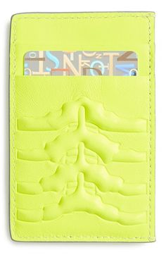 Alexander McQueen Rib Cage Leather Card Holder | Nordstrom