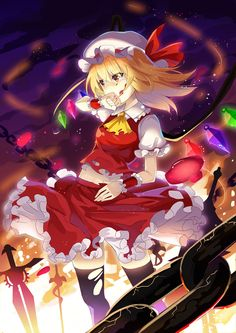 girl with weapon Anime pictures and wallpapers search Touhou Anime, Anime Neko, Manga Anime, Anime Art, Dark Anime Girl, Demon Wolf, Scarlet, Anime Characters, Comic Art