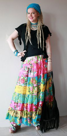 More gypsy chic.  Love this look.