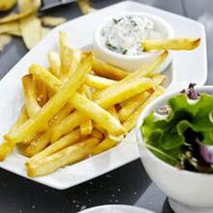 Fries with Yoghurt Dip