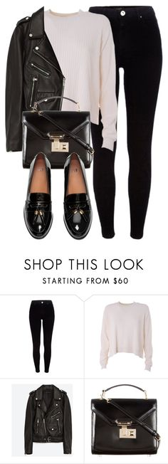 """""""Untitled #6072"""" by laurenmboot ❤ liked on Polyvore featuring River Island, Acne Studios, Jakke, Rebecca Minkoff and H&M"""