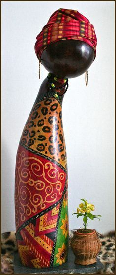 African Gourd Doll Zuri by Norma, photograph by maria@delpinto.com