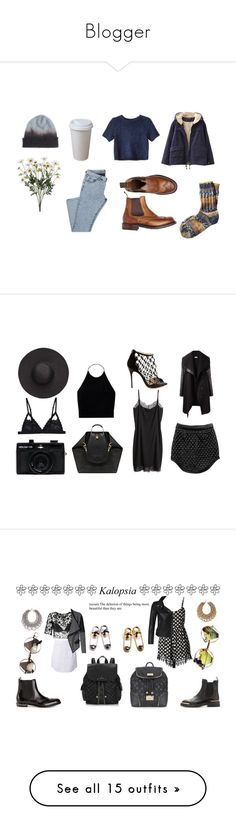 """""""Blogger"""" by xxxthebombshellfactoryxxx ❤ liked on Polyvore featuring Toast, Chicnova Fashion, Monki, Cosabella, Helmut Lang, Mulberry, Witchery, Holga, H&M and Wilfred"""