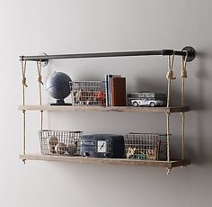 Discovered my love for industrial pipes deco! and its even further customizable with the rope shelves <3