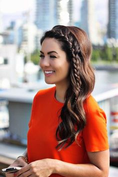 Give yourself a simple standout hairstyle with a baby braid.