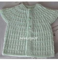 This Pin was discovered by Işı How To Start Knitting, Knitting For Kids, Baby Knitting, Easy Knitting Patterns, Baby Patterns, Baby Girl Vest, Crochet Tablecloth Pattern, Moda Emo, Bebe Baby