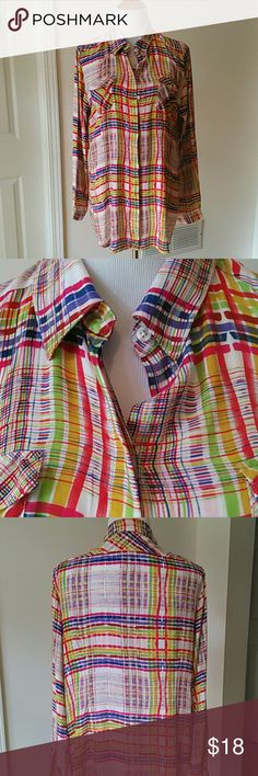 Cabi Colorful Blouse Very good condition 100% rayon CAbi Tops