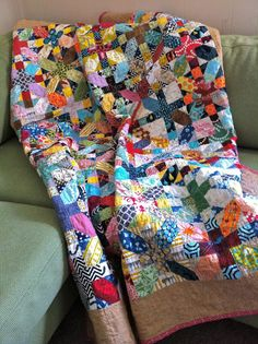 Japanese X and + quilt