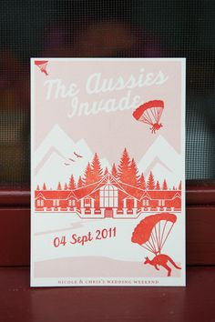 Red White Travel-Inspired Wedding Invitations via Oh So Beautiful Paper (25)