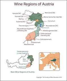 Austria #wine #wineeducation #austria  Here's a map of Austria's wine regions.  I've found it useful to keep within the reach of a few mouse clicks!