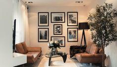 ACHADOS DE DECORAÇÃO - blog de decoração: APARTAMENTO DECORADO EM BRANCO, PRETO, MARROM E LI...