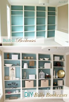 I am about to attempt this once I can. Easy Home Improvement Diy - Most creative decoration list Home Improvement Loans, Home Improvement Projects, Diy Hanging Shelves, Built In Bookcase, Diy Home Decor Projects, Decor Crafts, Easy Diy Crafts, Stores, Home Renovation