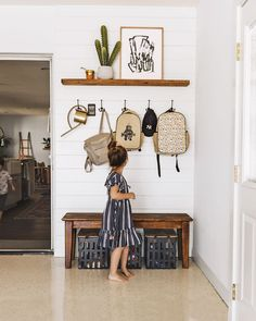 Whether you've got a mudroom, a foyer, or your door opens right into the front staircase — these entryway ideas will make your space stylish, functional, and wow-worthy. Entryway Hooks, Entryway Decor, Apartment Entryway, Entryway Furniture, Kitchen Entryway Ideas, Home Decor Hooks, Foyer Ideas, Entryway Organization, Entryway Bench