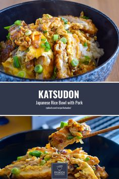 Try out our delicious katsudon recipe. I concentrate to use almost non-japanese ingredients, so you can cook this easily without going to a japanese supermarket :) Easy Japanese Recipes, Japanese Dishes, Fun Easy Recipes, Dinner Recipes, Japanese Food, Japanese Steak, Bento Recipes, Pork Recipes, Asian Recipes