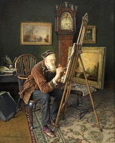 Charles Spencelayh (England 1865-1958) The Old Copyist