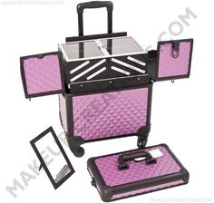 Rolling Cosmetic Case 4 Wheel Spinner - $139.00    #Beauty #Makeup #MakeupArtist