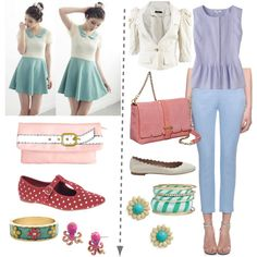 """The outfit on the right (""""cutesy LSu SG"""" by skugge on Polyvore)"""
