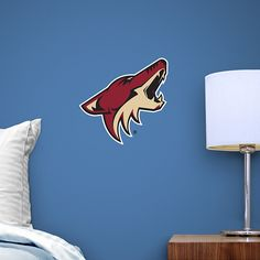 Arizona Coyotes Teammate Logo Fathead Teammate – Peel & Stick Wall Graphic | Arizona Coyotes Wall Decal | Sports Home Decor | Hockey Bedroom/Man Cave/Nursery