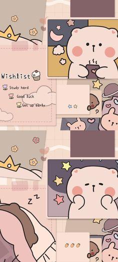 Wallpaper Doodle, Cute Pastel Wallpaper, Soft Wallpaper, Anime Scenery Wallpaper, Bear Wallpaper, Cute Patterns Wallpaper, Iphone Background Wallpaper, Cute Anime Wallpaper, Galaxy Wallpaper