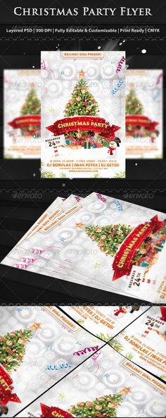 Christmas Party Flyer Templates — Photoshop PSD #new year #gift • Available here…