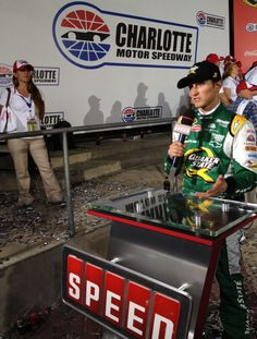 Kasey Kahne talks with SPEED after his big NASCAR Sprint Cup Series win at Charlotte Motor Speedway on May 27.
