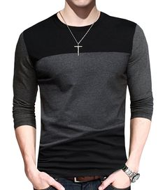 Buy Mens Cotton T-Shirt Casual Tops Tee Classic Fit Basic Shirts - - and shop more latest Men's Shirts all over the world. Casual T Shirts, Casual Tops, Men Casual, Casual Wear, Mens Cotton T Shirts, Men's Shirts, Tee Shirt Homme, Shirt Men, Swagg
